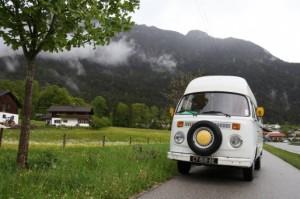 Le Bulli à la froide frontière autrichienne.