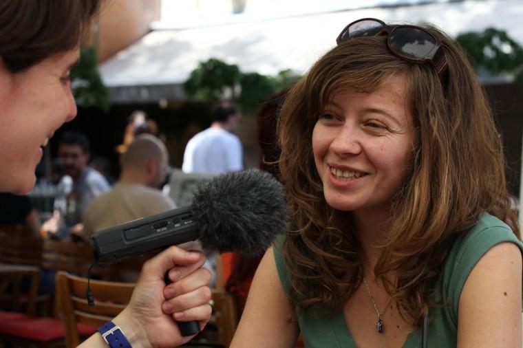 """Ivana Vukelic est serbe, elle a 26 ans et participe au festival de cinéma documentaire VIVISECT (""""Vicisection"""") à Novi Sad"""